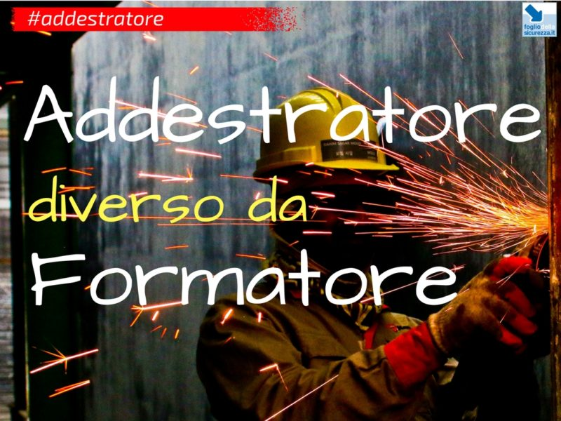 La differenza fra addestratore e formatore