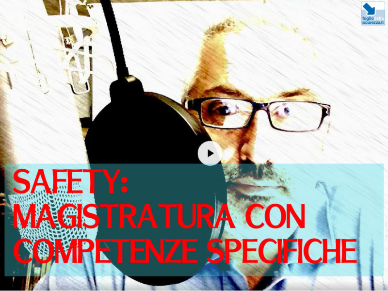 Magistratura con competenze specifiche
