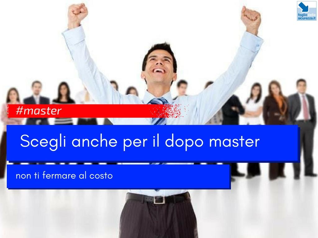 Scegliere un master