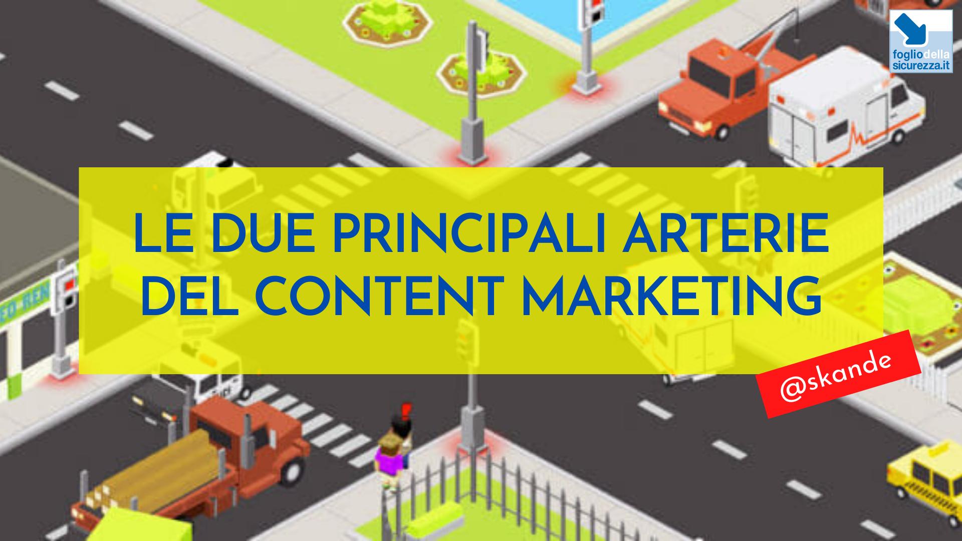 Le due principali arterie del content marketing