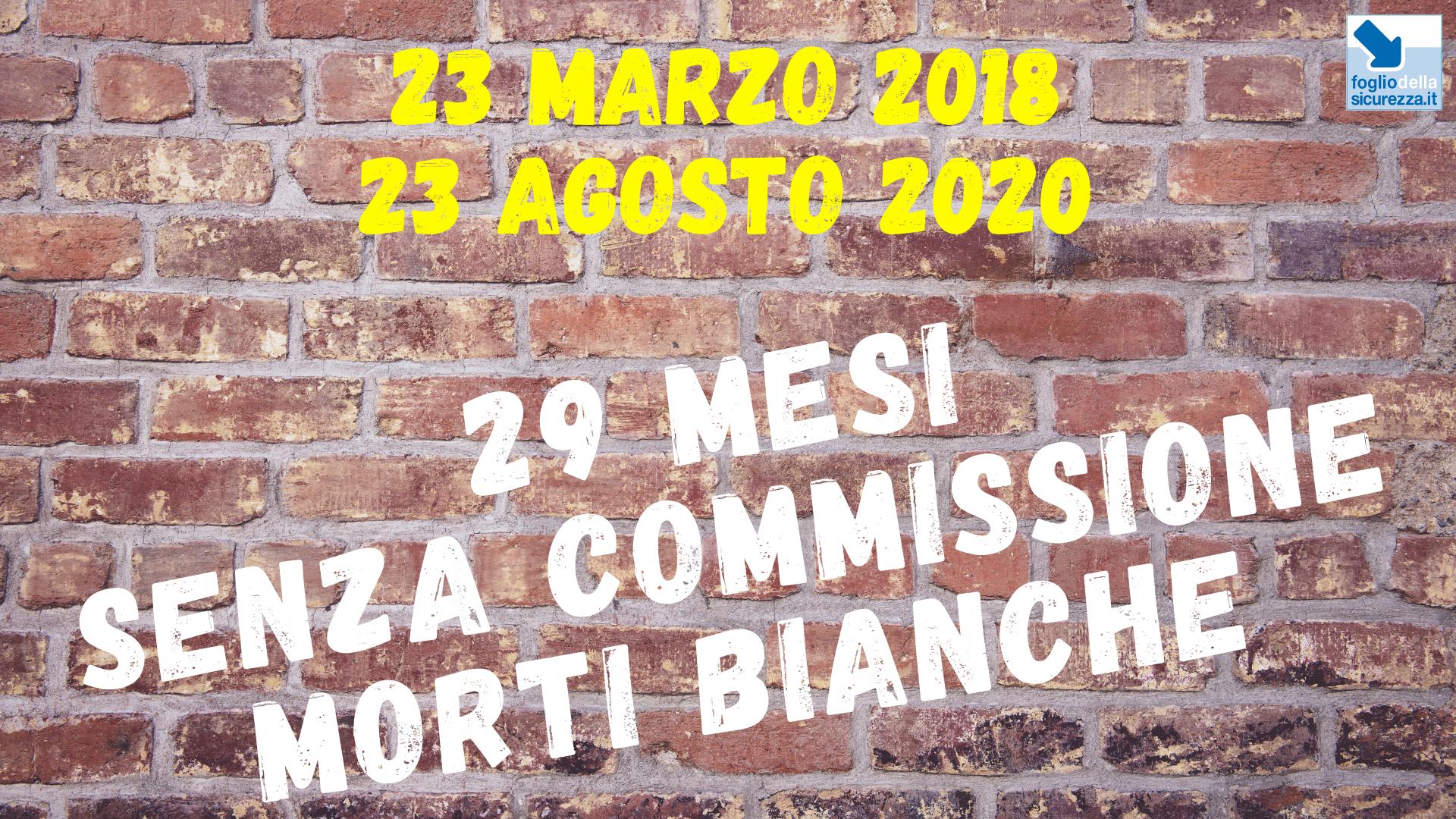 Commissione morti bianche 20200823